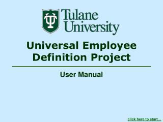 Universal Employee Definition Project