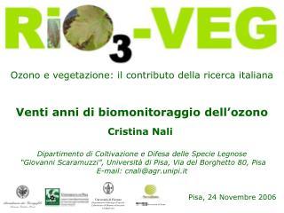 Ozono e vegetazione: il contributo della ricerca italiana