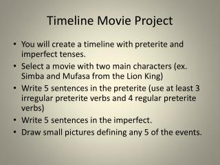 Timeline Movie Project