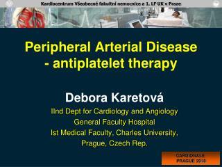 Peripheral Arterial Disease - antiplatelet therapy
