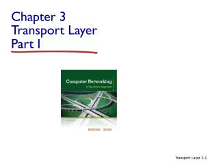 Chapter 3 Transport  Layer  Part I