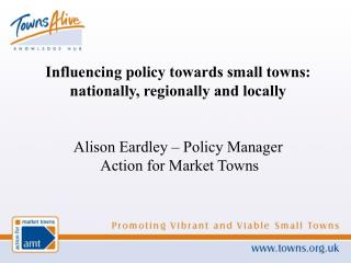 Influencing policy towards small towns:  nationally, regionally and locally