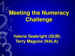 Meeting the Numeracy Challenge
