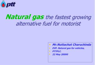Natural gas the fastest growing alternative fuel for motorist