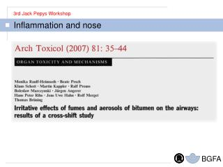 Inflammation and nose