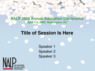 Title of Session Is Here