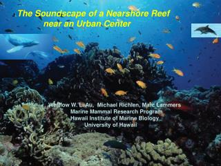 The Soundscape of a Nearshore Reef             near an Urban Center