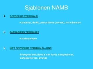 Sjablonen NAMB