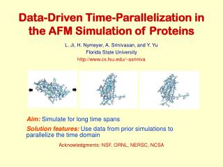 Data-Driven Time-Parallelization in the AFM Simulation of Proteins