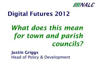 Justin Griggs Head of Policy & Development