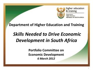 Skills Needed to Drive Economic Development in South Africa