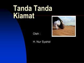 Tanda Tanda Kiamat