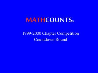 MATH COUNTS 
