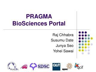 PRAGMA  BioSciences Portal