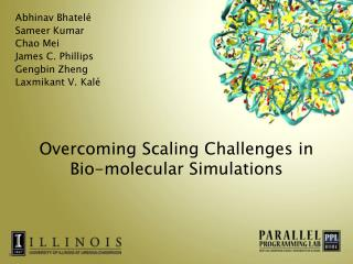Overcoming Scaling Challenges in  Bio-molecular Simulations