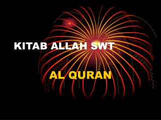 KITAB ALLAH SWT
