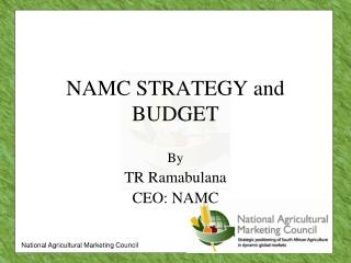 NAMC STRATEGY and BUDGET
