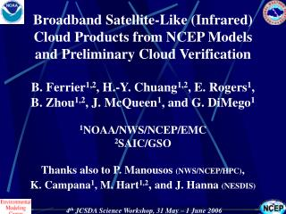 Background on Satellite Cloud Products