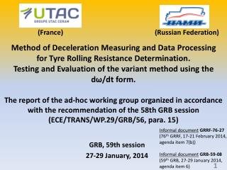 GRB, 59th session 27-29 January, 2014