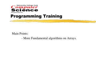 Programming Training