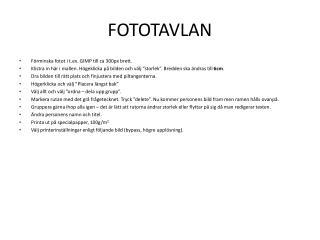 FOTOTAVLAN