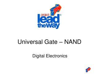 Universal Gate – NAND