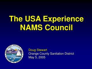 The USA Experience NAMS Council