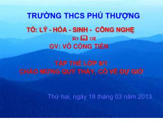 TR??NG THCS PH� TH??NG