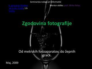 Zgodovina fotografije