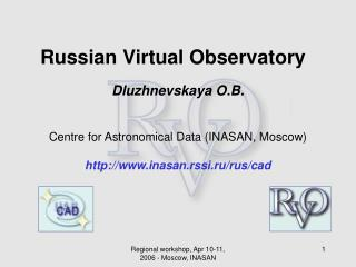 Russian Virtual Observatory