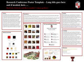 Research Conference Poster Template   Long title goes here and if needed, here . Rock em, Sock em, and Howe author s nam