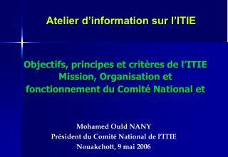 Atelier d'information sur l'ITIE