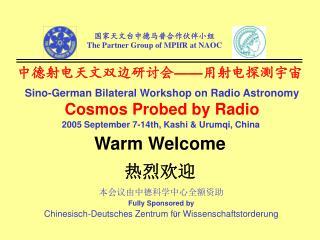中德射电天文双边研讨会 —— 用射电探测宇宙