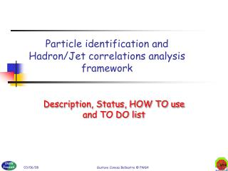 Particle identification and Hadron/Jet correlations analysis framework