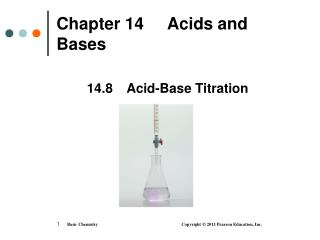 Chapter 14     Acids and Bases