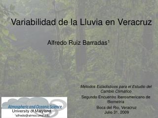 Variabilidad de la Lluvia en Veracruz