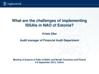 Mandate  of  National Audit Office  of Estonia (NAOE)