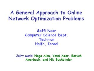 A General Approach to Online Network Optimization Problems