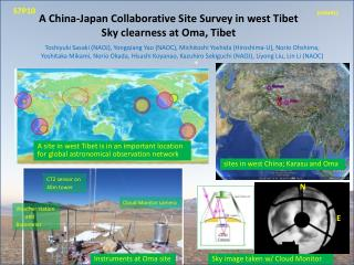A China-Japan Collaborative Site Survey in west Tibet  Sky clearness at  Oma , Tibet