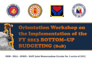 Orientation Workshop on the Implementation of the FY 2013 BOTTOM–UP BUDGETING  ( BuB )
