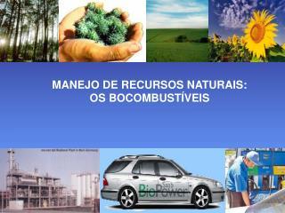 MANEJO DE RECURSOS NATURAIS: OS BOCOMBUSTÍVEIS
