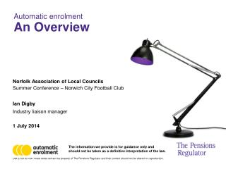 Automatic enrolment An Overview