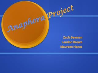 Zach Beaman Landon Brown Maureen Hanes