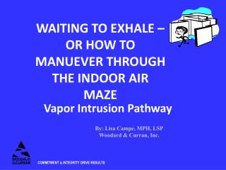 WAITING TO EXHALE – OR HOW TO MANUEVER THROUGH THE INDOOR AIR MAZE
