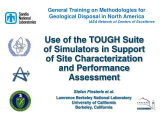 Stefan Finsterle et al. Lawrence Berkeley National Laboratory University of California