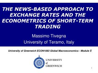 THE NEWS-BASED APPROACH TO EXCHANGE RATES AND THE ECONOMETRICS OF SHORT-TERM TRADING