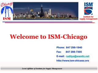 Welcome to ISM-Chicago
