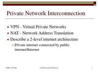 Private Network Interconnection