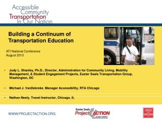 Building a Continuum of Transportation Education