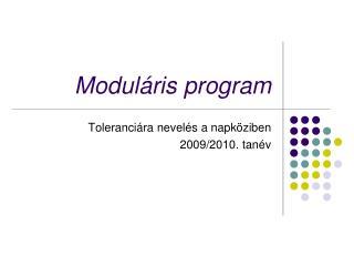 Modul�ris program